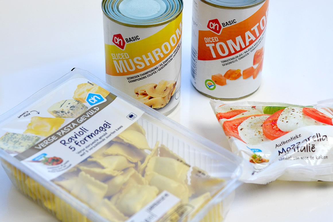 Snelle vegetarische pasta met maar vier ingrediënten