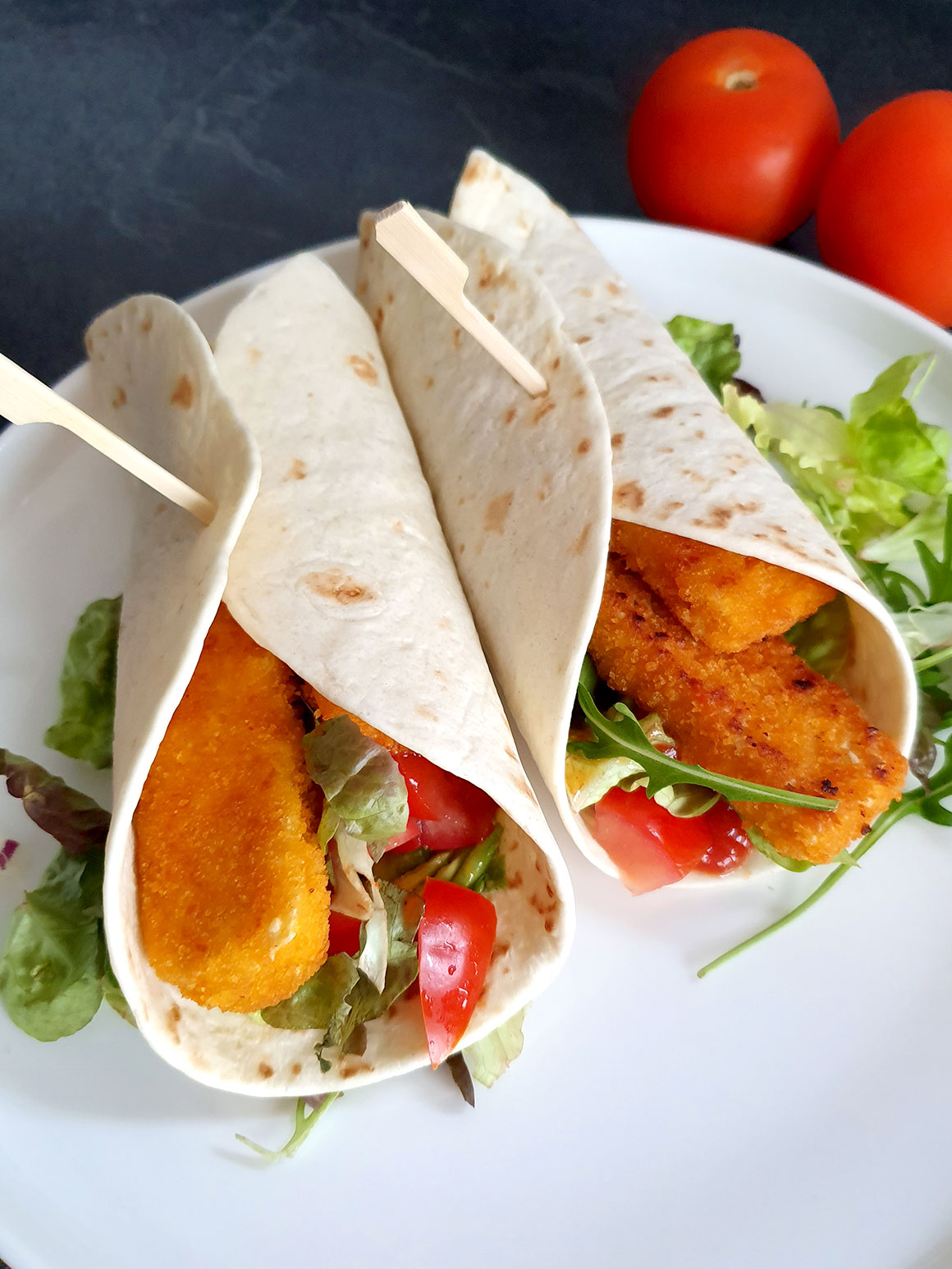 Wraps met 'vissticks'