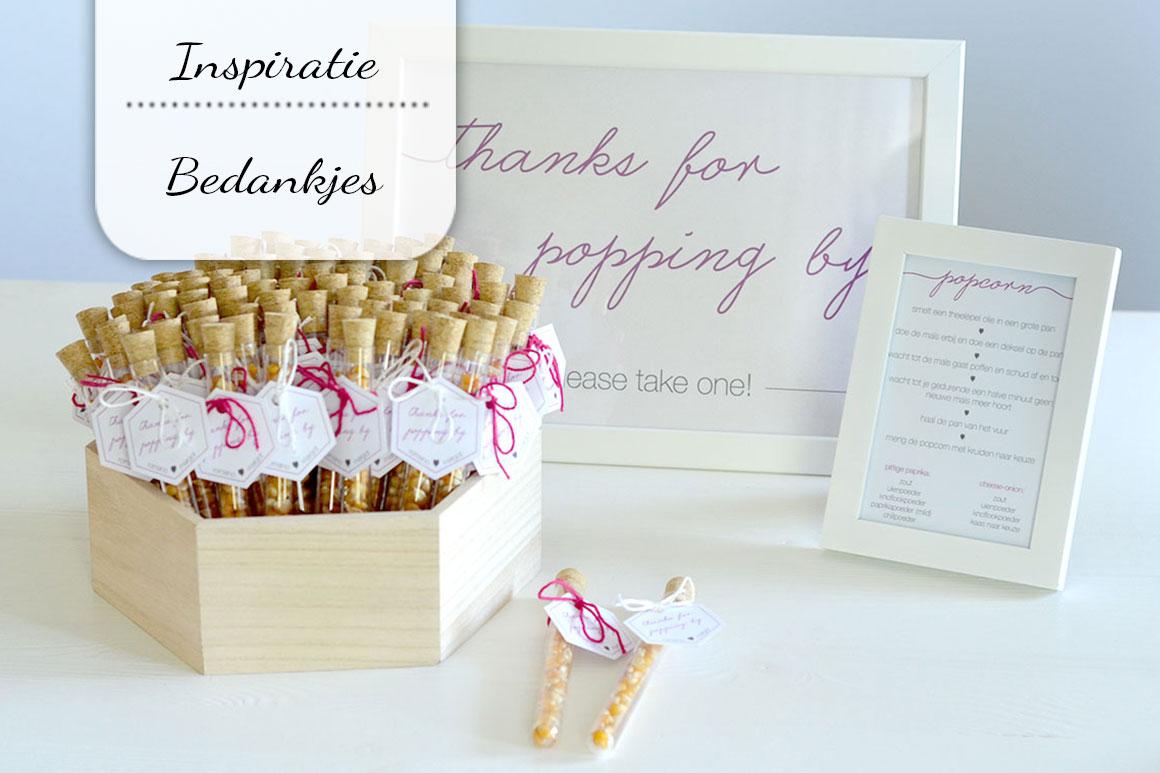 Spiksplinternieuw Bedankjes voor een bruiloft (en andere feesten) - My Simply Special PF-57