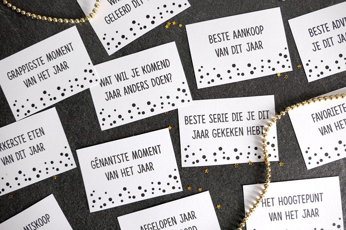 DIY: Oud & Nieuw gespreksstarters (gratis printable) - My Simply Special